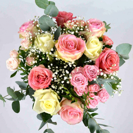 Bouquet rond bisous (Taille M 45€)