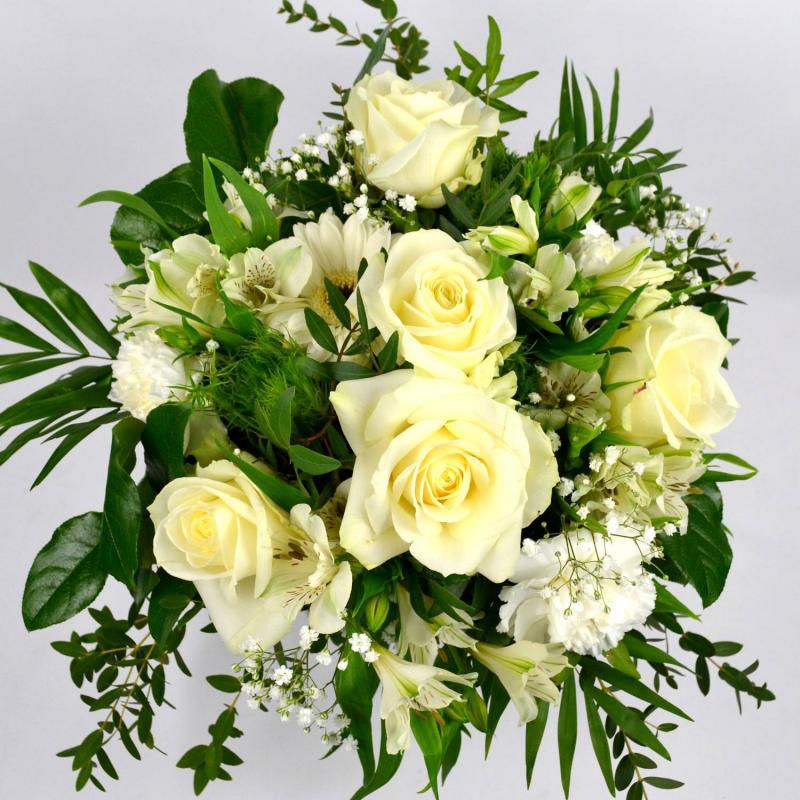 Bouquet rond pureté (Taille M 35€)