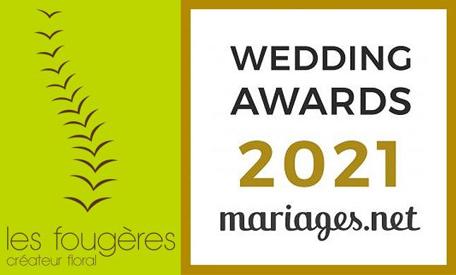 Wedding Awards 2021 Mariages.net - Les Fougères